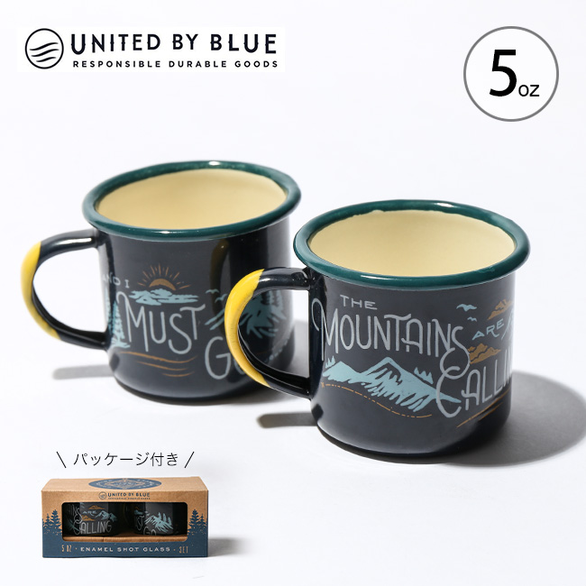 United By Blue Enamel Shot Glass
