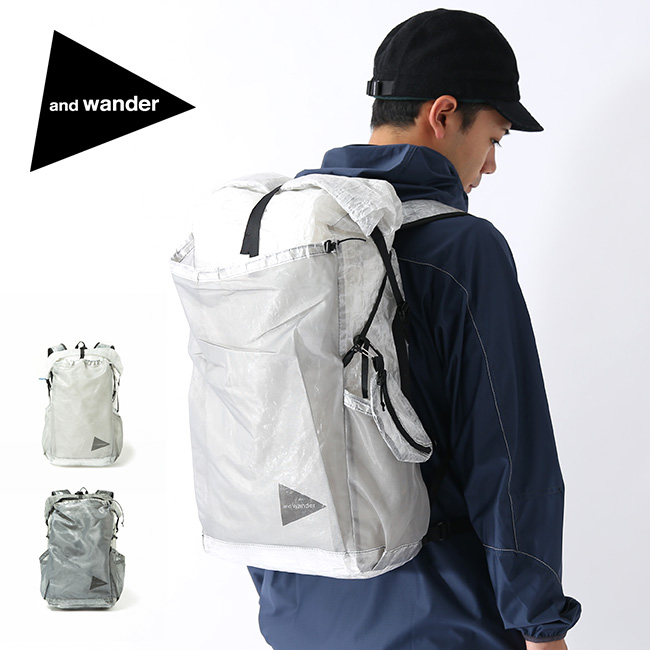 アンドワンダー キューベンファイバーバックパック and wander cuben fiber backpack 5740975002 鞄 ザック リュックサック ロールトップ 軽量 丈夫 アウトドア <2020 春夏>
