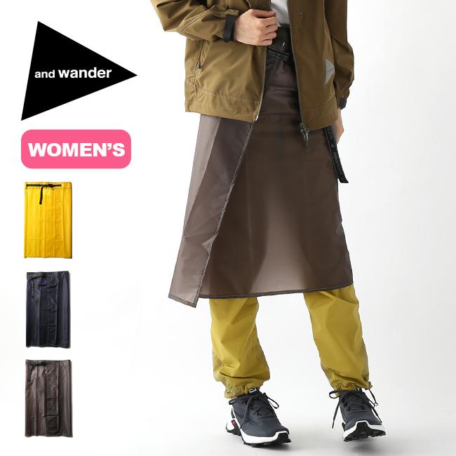 アンドワンダー シルスカート and wander sil skirt レディース ウィメンズ 5740912002 ボトムス スカート レインウェア アウトドア <2020 春夏>