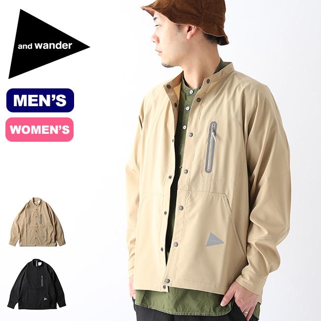 アンドワンダー テックロングスリーブバンドカラーシャツ and wander tech long sleeve band collar shirt メンズ レディース ウィメンズ 5740153003 シャツ トップス アウトドア <2020 春夏>
