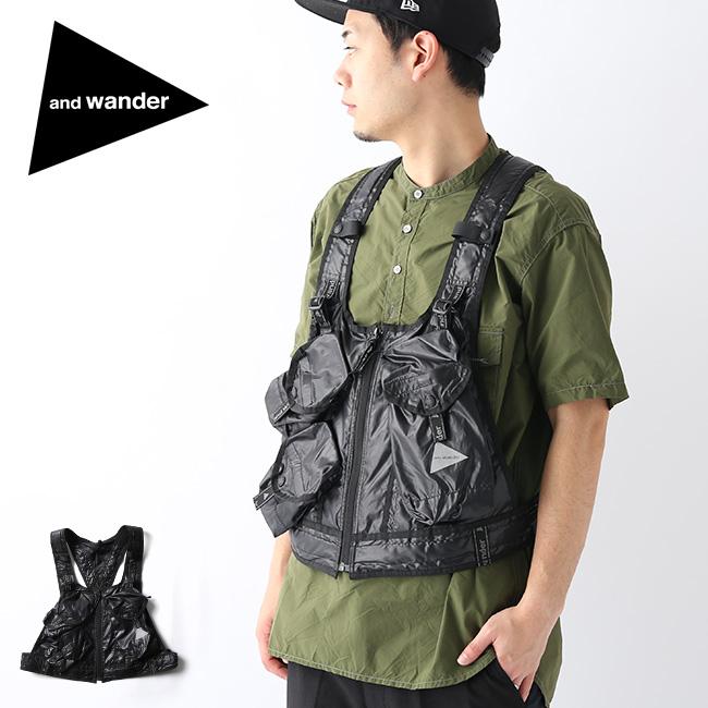 アンドワンダー ユーティリティーポケットベスト and wander utility pocket vest 5740177001 ベスト チョッキ ワークベスト アウター アウトドア <2020 春夏>