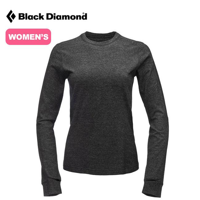 ブラックダイヤモンド ソリューション150メリノベースレイヤークルー Black Diamond SOLUTION 150 MERINO BASE CREW レディース ウィメンズ BD63000 ベースレイヤー 下着 Tシャツ 長袖 アウトドア <2020 春夏>