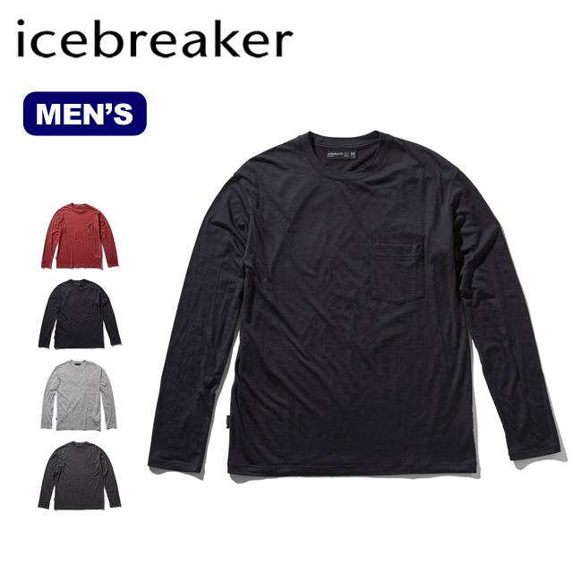 アイスブレーカー メンズ テックライトLSポケットクルー Icebreaker Men's TECH LITE LS POCKET CREWE IT61770 長袖 ロンT ロングスリーブ アウトドア <2020 春夏>