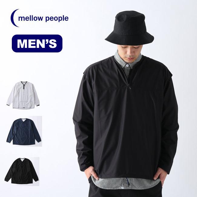 メロウピープル ウィンドシェルプルオーバー L/S MELLOW PEOPLE Wind shell pullover L / S メンズ JKT-38 アウター 羽織り シェル アウトドア <2020 春夏>