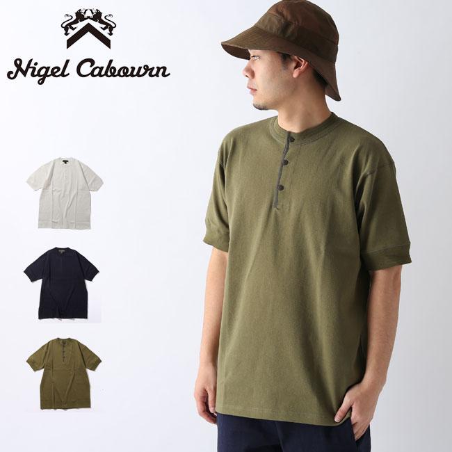 ナイジェルケーボン 40s ウォークヘンリーネック S/S NIGEL CABOURN 40s WORK HENLEY NECK SHORT SLEEVE メンズ 8040-00-21001 Tシャツ 半袖 アウトドア <2020 春夏>