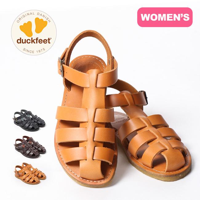 ダックフィート DN6050 Duckfeet サンダル 靴 レディース 革 グルカサンダル <2020 春夏>