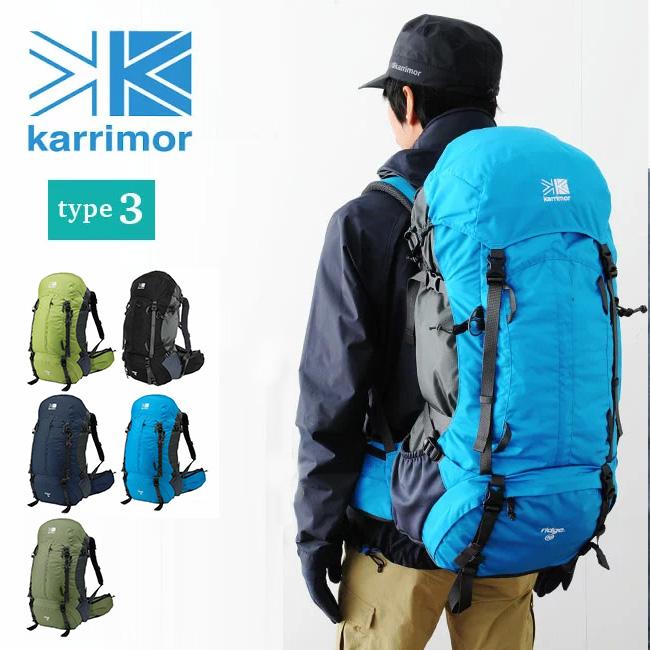 カリマー リッジ 40 タイプ3 【送料無料】 karrimor ridge 40 type3 リュックサック リュック ザック バックパック 40L 40リットル 登山 トレッキング 男性用 バックレングス 50cm