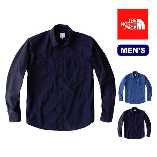 ノースフェイス L/S テックインディゴシャツ 【正規品】THE NORTH FACE シャツ 長袖 タウンユース 男性 メンズ セール SALE