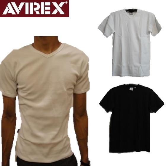 入荷しました 日本産 アヴィレックス 正規販売店 AVIREX 定番デイリーライン リブ素材Vネック半袖TシャツDAILY V-NECK T-SHIRTS 6143501 アビレックス S 617351 smtb-k 公式サイト