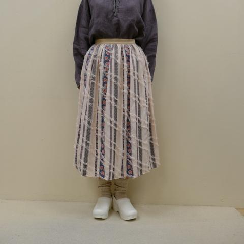 セールbulle de savon★チロリアンテープジャガード ギャザースカート SK-014-19-1b(ビュルデサボン)【smtb-k】