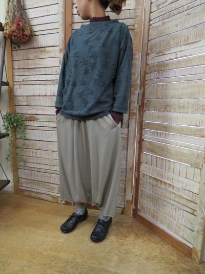 【FACTORY】バンブーウール サルエルパンツ 定番P-18ファクトリー【smtb-k】