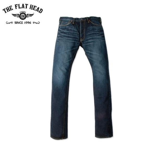 THE FLAT HEAD☆3001ZCリアルエイジド加工ZIPフライ 14.5ozデニムタイトストレートジーンズSPECIAL CUSTOM TIGHT STRAIGHT Z(フラットヘッド)FLATHEAD