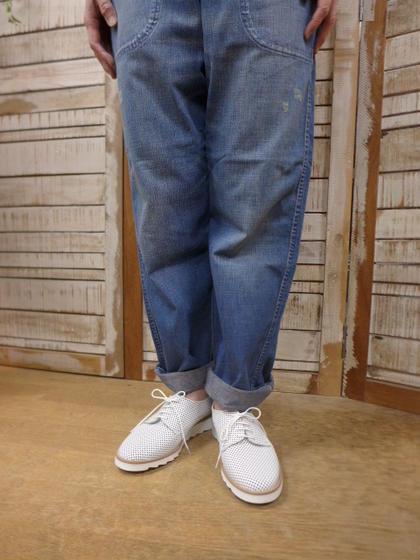 セール!【MAURICE】SHUM PERFO(軽量ソール)パンチングホワイト (モーリス) MAURICE Manufacture モーリスマニュファクチャー 【smtb-k】