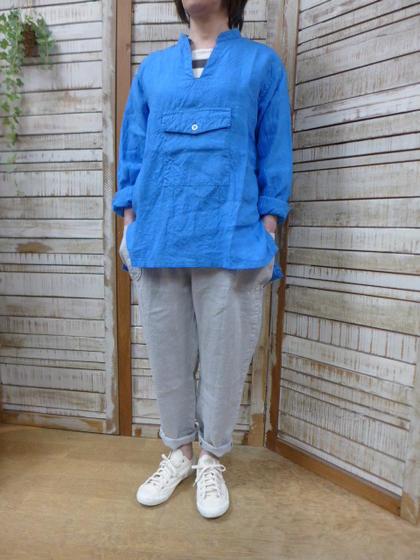 【Yarmo】VネックプルオーバーデッキシャツV Neck Pulllover Deck Shirts[ヤーモ]【smtb-k】