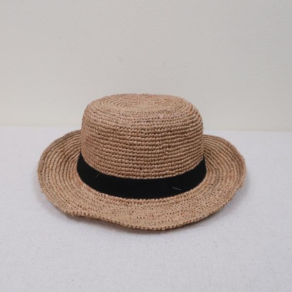 NORO CANOTIERラフィアカノティエハット(カンカン帽)(ノロ)