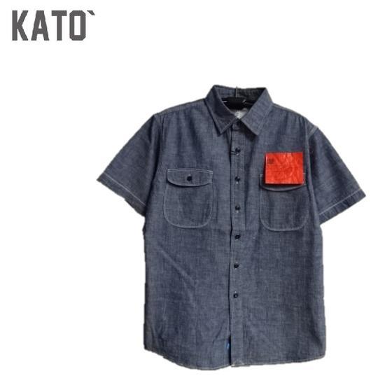 KATO`BASIC定番半袖シャンブレーワークシャツ (mens)BS230021 KATO'(カトー)KATO デニム