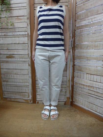 ORDINARY FITS★5POCKET ANKLE DENIM white 5ポケットアンクルデニムパンツ オフホワイト OM-P110OW (オーディナリーフィッツ)