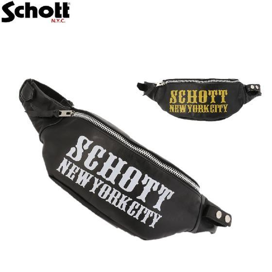 SchottレザーボディーバッグMCロゴBODY BAG M/C LOGO 3189016☆ショット