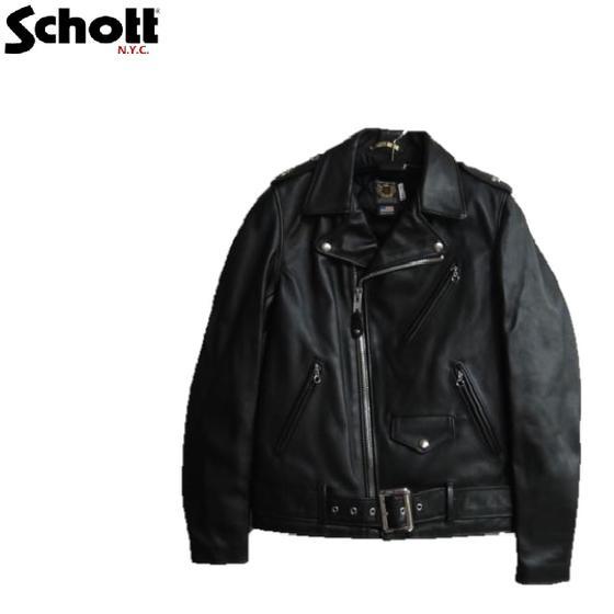 Schott MADE IN U.S.A.ワンスタートールモデル(ブラック)(日本別注モデル)613US TALL ONE STAR RIDERS 7164-09☆ショット(米国製)