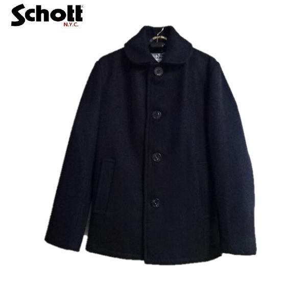Schott米国製シングルPコート 758US SINGLE PEACOATピーコート(NAVY)☆Schottショット7537-87