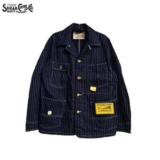 SUGAR CANE★9オンスウォバッシュストライプワークコート(ジャケット)9oz.WABASH STRIPE WORK COAT SC14001(シュガーケーン東洋エンタープライズ)MADE IN JAPAN