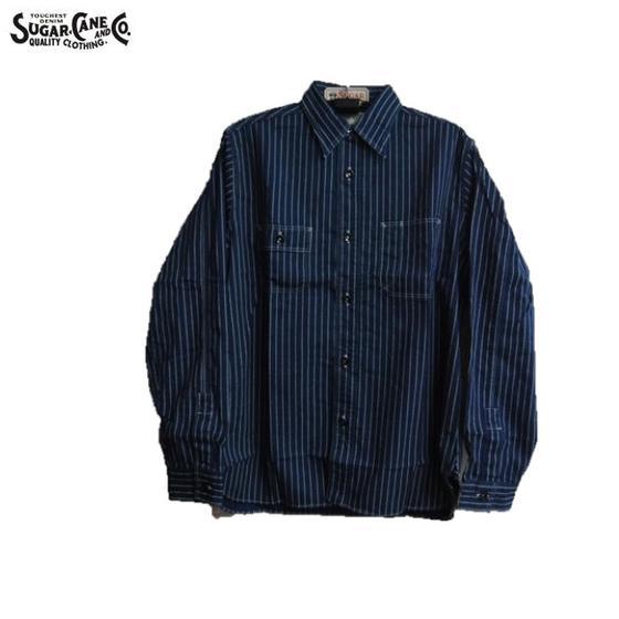 SUGAR CANE FICTION ROMANCE ウォバッシュストライプワークシャツMADE IN JAPAN 8.5oz. WABASH STRIPE WORK SHIRT SC25551A(シュガーケーンフィクションロマンス)(日本製)
