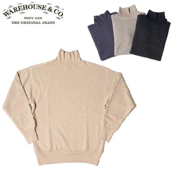 クリアランスセールセール WAREHOUSE 安心の正規販売店 こだわりのMADE IN JAPAN日本製Tシャツ ●日本正規品● メイドインジャパン セールWAREHOUSE Lot.465 ウエアハウス HOUSE 4本針タートルネックスウェットWHSW-19AW026 タートルスウェット 2020 お金を節約 ウェアハウス WARE