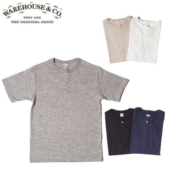 再入荷しました 最新 WAREHOUSE 安心の正規販売店 こだわりのMADE IN JAPAN日本製Tシャツ メイドインジャパン Lot 4082 無地 WHTS-20SU027 Henley ウエアハウス 1ボタンヘンリーネックTシャツ1button WARE HOUSE ウェアハウス 激安セール