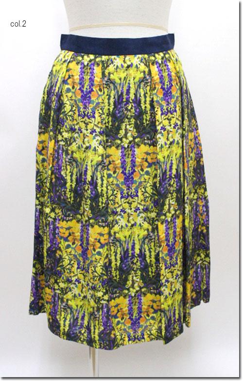 ●LOUNIE 【ルーニィ】 ルーニー レーヨンローンパネルプリントスカート 19213101