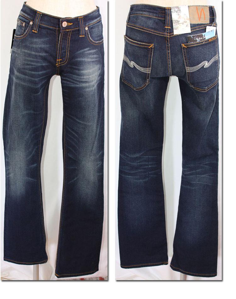 ●NUDIE jeans (ヌーディージーンズ) NARROW BOOT タイトブーツカットデニム DeepBlueBlack (613) 29161-1107