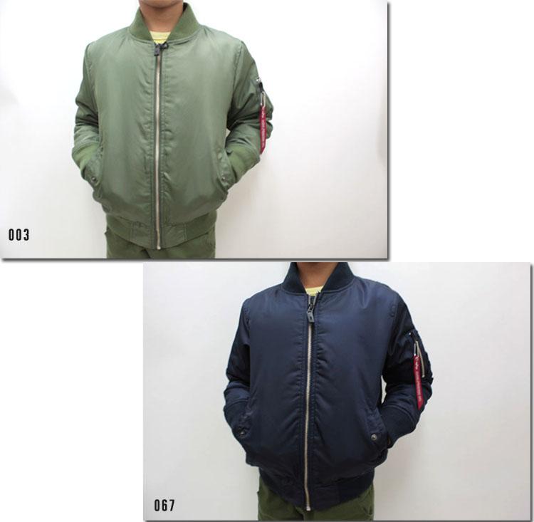 ●ALPHA 【アルファ】★キッズ フライトジャケット MA-1 レディース 着用可  TA8010
