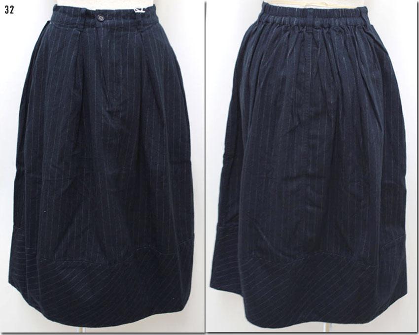 ●antgauge 【アントゲージ】 タックネルストライプコクーンスカート GE247