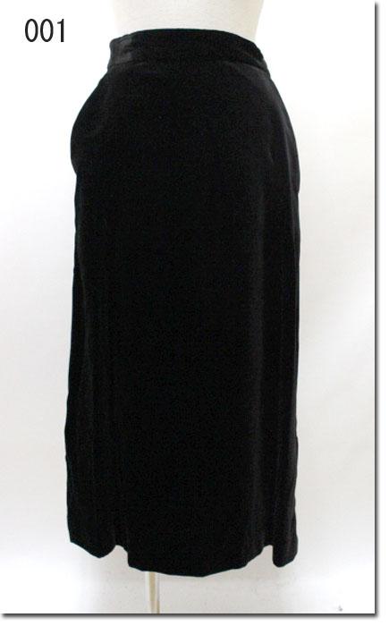 ●UNIVERSAL TISSU 【ユニヴァーサルティシュ】 スーピマコットン ベルベット スリットスカート UT183SK028