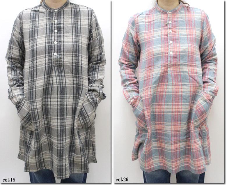 ●(Rakupon対象外)Brocante 【ブロカント】 チェックロングシャツ 38-120O
