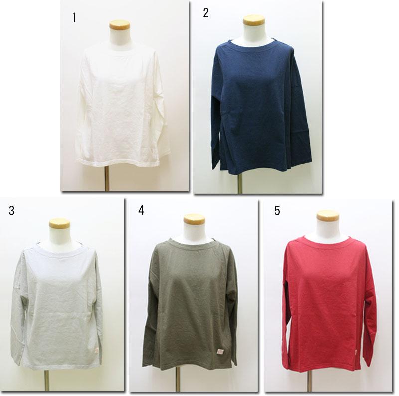 ●快晴堂 【かいせいどう】 19/-度詰め天竺ブラジリアンコットン Girl's- Tシャツ 丸首ギャザーT 83C-44