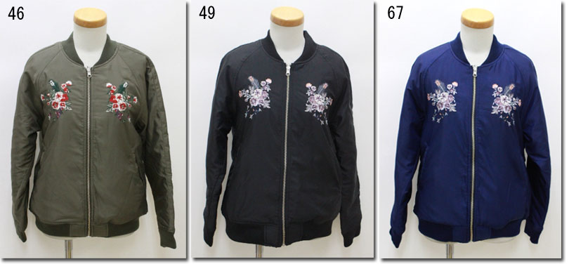 ●nicole CLUB 179/WG【ニコルクラブ】 刺繍入りリバーシブルブルゾン 6463-3732