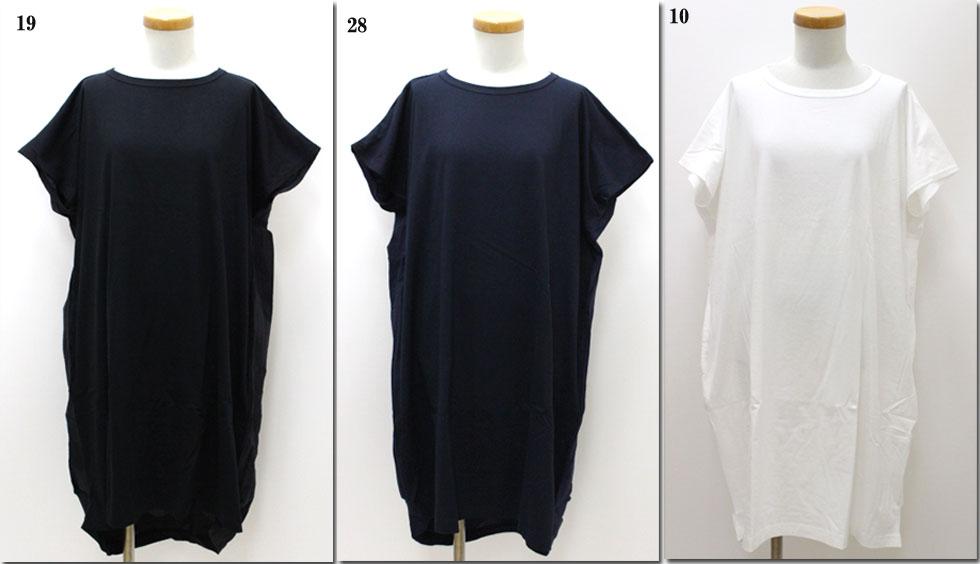 ●Dana FANEUIL 【ダナファヌル】 後ろドット布帛チュニックワンピース 切替  D-9819201
