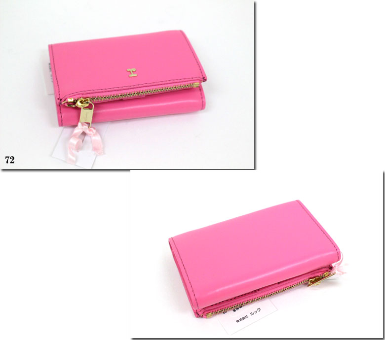 ●repetto 【レペット】Cowhide leather Iconic pink レザー三つ折りウォレット 財布  51193-4-00453 51193400453
