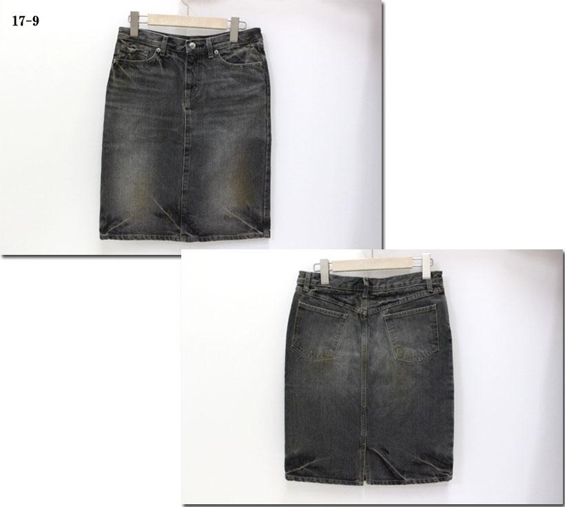 ●(Rakupon対象外)D.M.G. 【ドミンゴ】ブラックデニムスカート ミニスカート 17-136A