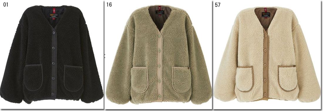 ●ALPHA 【アルファ】レディース ボアライナー ノーカラージャケット M-65 ブルゾン  TA7097