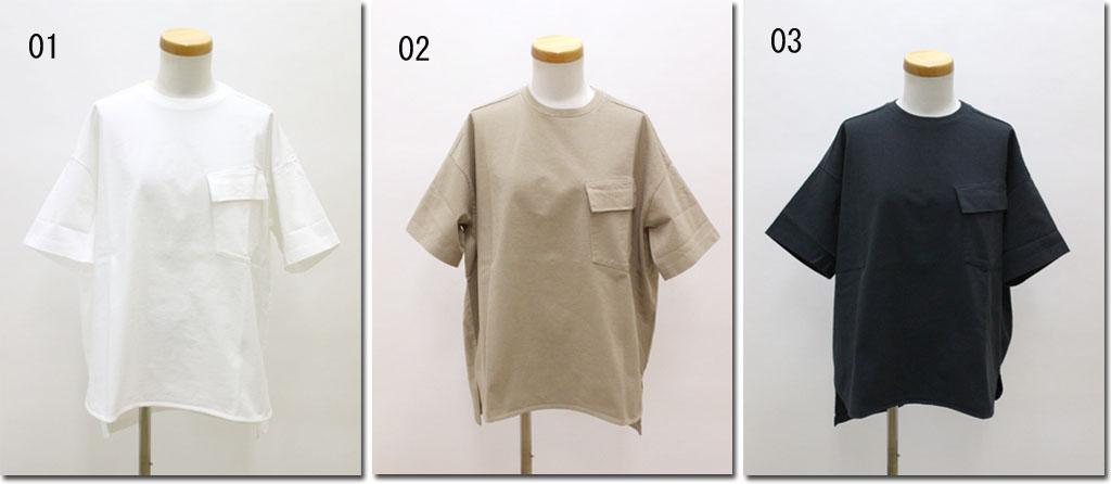 ●OUVERT 【ウーヴェル】 BD甘撚り引き揃え天竺Tシャツ 2020837