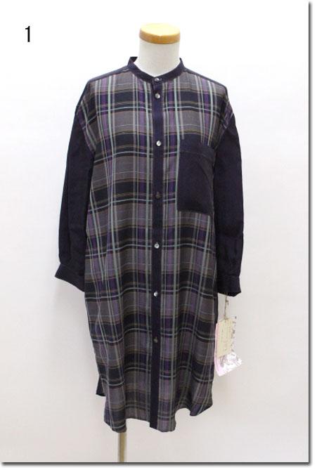 ●ROSIER 【ロジエ】 ダークマドラス ベアバックロングシャツ  81-11370