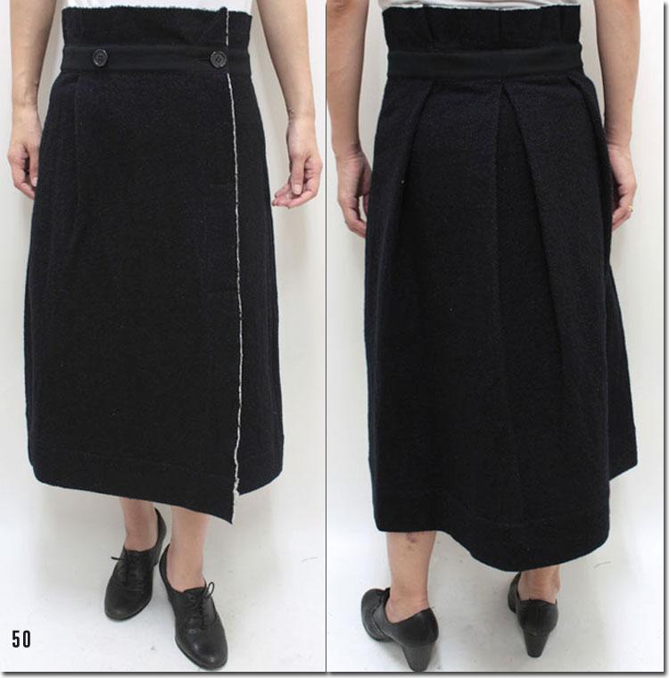 ●RaPPELER 【ラプレ】 ウールコットンラップスカート RL152-03006