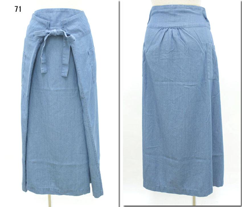 ●mao made 【マオメイド】 テンセルデニムポケットスカート 321309