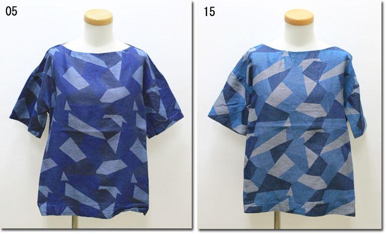 ●prit 【プリット】 幾何学柄ジャガードボートネックプルオーバー 82846