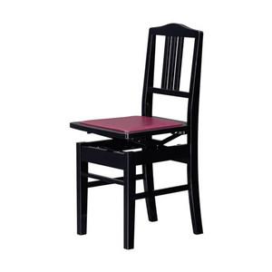 背付き高低自在椅子 ブラック ♪ ♪この商品はお取り寄せ商品です♪ 【ピアノ発表会 記念品 に最適♪】音楽雑貨 ねこ雑貨 バレエ雑貨 ※同一商品1万円以上購入でラッピング無料♪