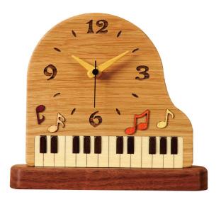 グランドピアノ 置時計♪お取り寄せ商品です♪【音楽雑貨 音符・ピアノモチーフ】【バレエ発表会の記念品に最適♪】お取り寄せ 大量注文できます♪音符 ト音記号 楽譜
