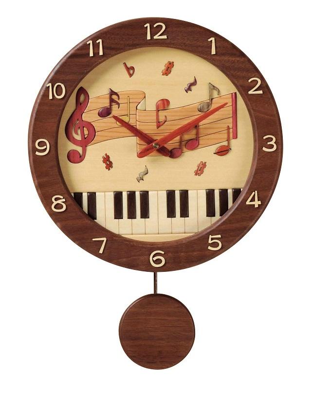 振り子掛時計 ♪お取り寄せ商品です。♪♪ 【ピアノ発表会 記念品 に最適♪】音楽雑貨 ねこ雑貨 バレエ雑貨 ♪記念品に最適 音楽会粗品