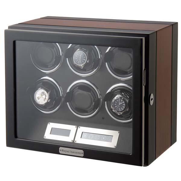 ワインディングマシーン ウォッチワインダー10代 20代 30代 40代 50代 60代 [公式 正規品] ロイヤルハウゼン Royal hausen ワインディングマシーン ウォッチワインダー GC03-L21EB 6本巻き 木目調