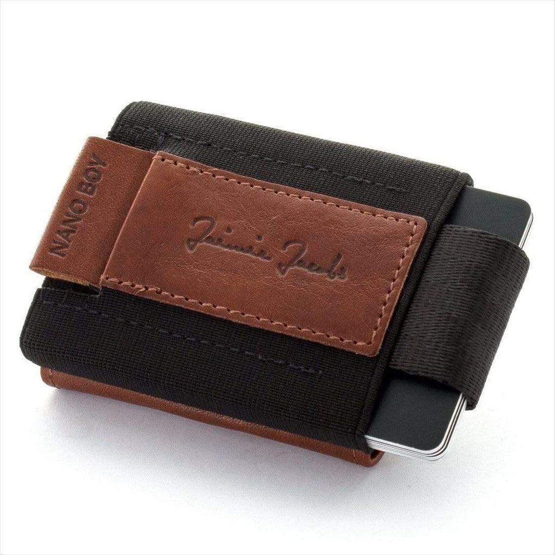 Jaimie Jacobs NANO BOY POCKET コンパクト財布 ( マネークリップ 小銭入れ カードケース ギフトボックス付き) ダークブラウン 正規輸入品
